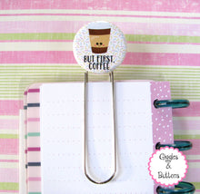 But First Coffee Button Bookmark
