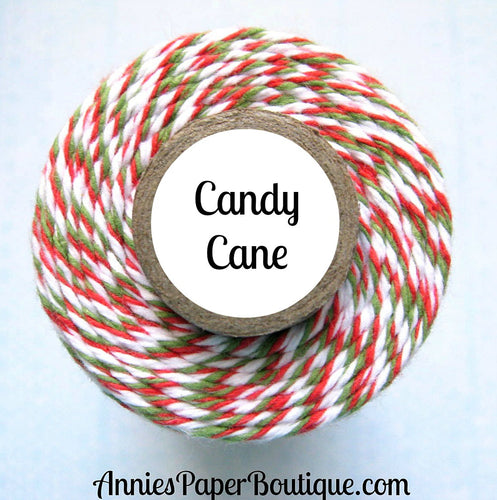 Candy Cane Trendy Bakers Twine - Red, Green, & White - Christmas, Holiday