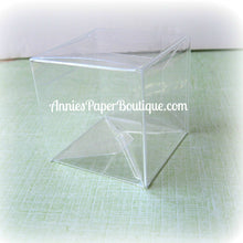 "Candy Cubes - 2"" x 2"" Square Clear Boxes"