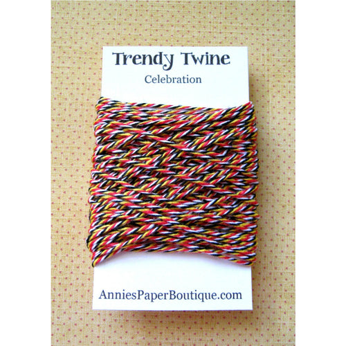Celebration Trendy Bakers Twine Mini - Red, Yellow, Black, and White