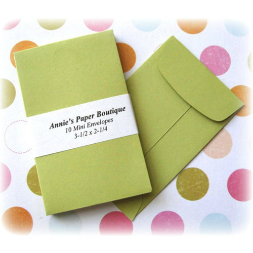 Green Coin Envelopes, Mini Open end