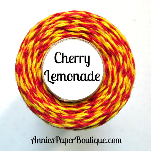 Cherry Lemonade Trendy Bakers Twine - Red & Yellow