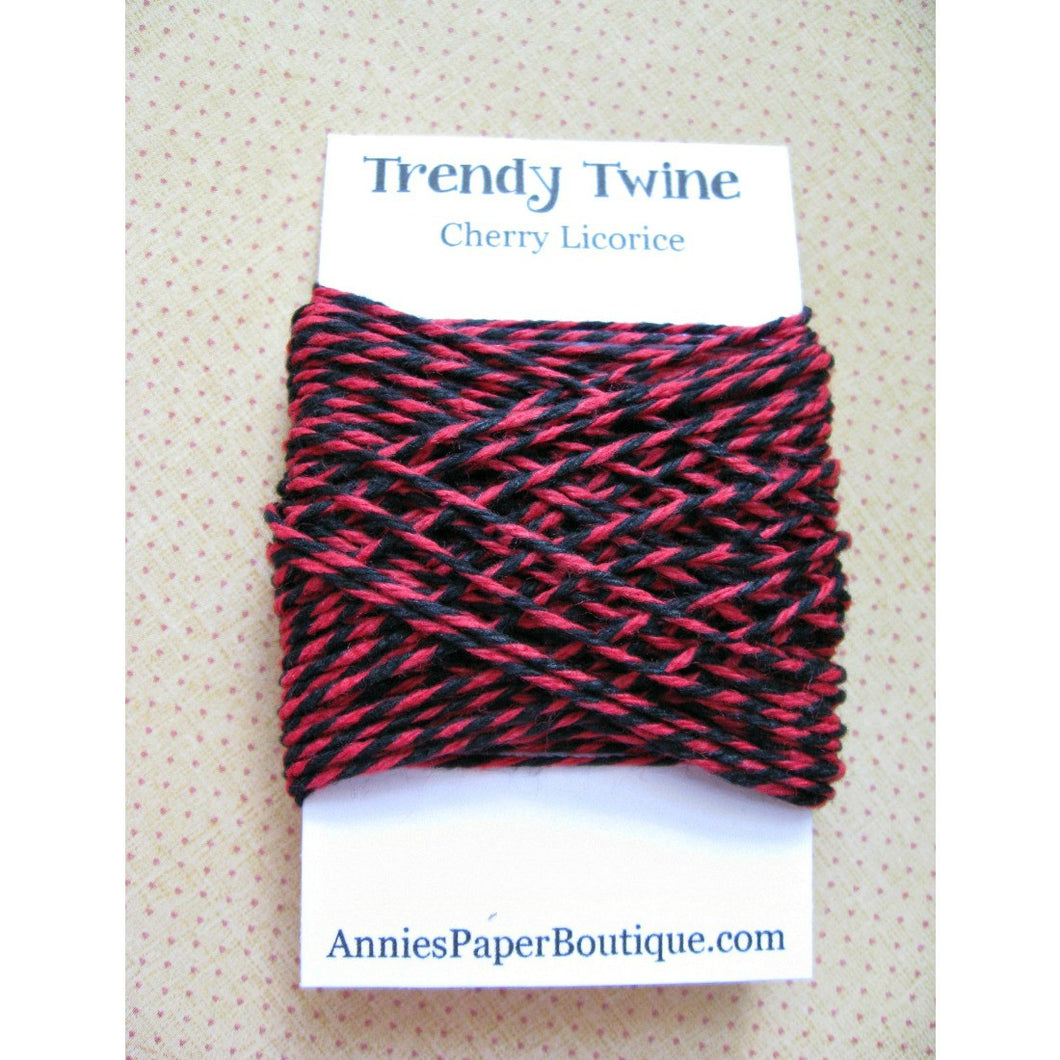 Cherry Licorice Trendy Bakers Twine Mini - Red and Black