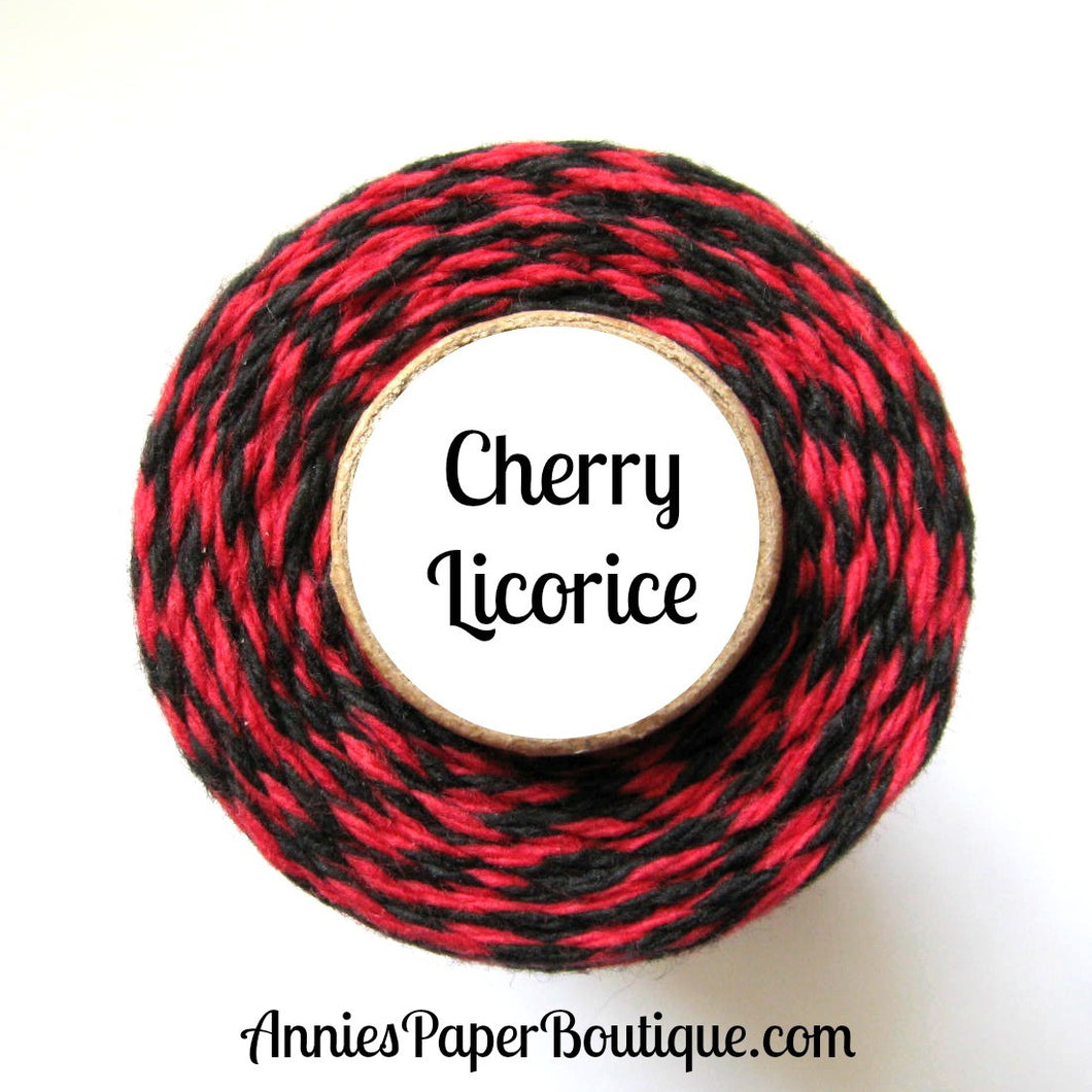 Cherry Licorice Trendy Bakers Twine - Red & Black