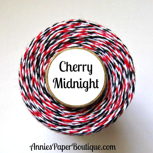 Cherry Midnight Trendy Bakers Twine - Red, White, & Black