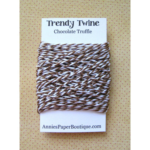 Chocolate Truffle Trendy Bakers Twine Mini - Brown, Medium Brown, and White