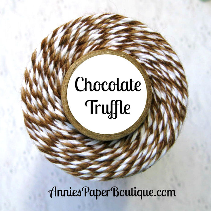 Chocolate Truffle Trendy Bakers Twine - Brown, Medium Brown, and White