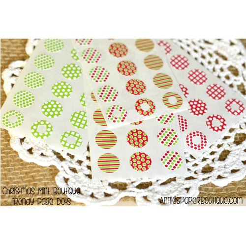 Lime Red and Green Trendy Page Dots - Hole Reinforcers