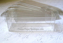 "Short Candy Chutes - 1"" x 3"" Clear Boxes"