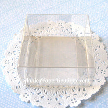"Chocolate Boxes - 2-3/4"" x 2-3/4"" Clear Boxes"
