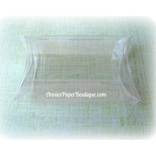 "Medium Pillow Boxes - 2-1/2"" x 7/8"" x 4"" Clear Boxes"