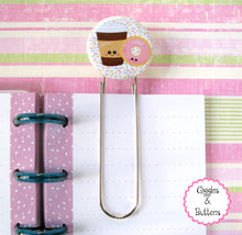 Coffee & Donut Button Paper Clip