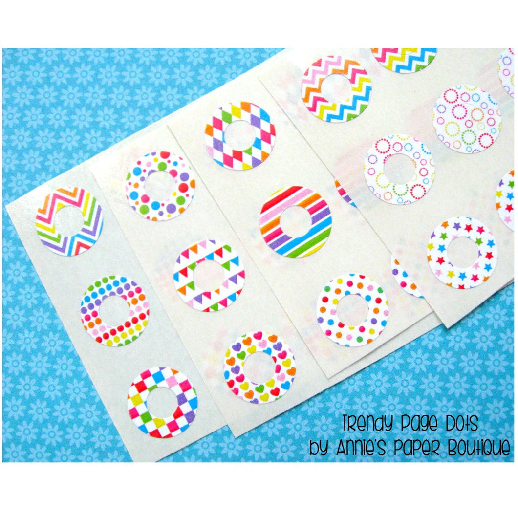 Color My World Trendy Page Dots - Circle Reinforcements