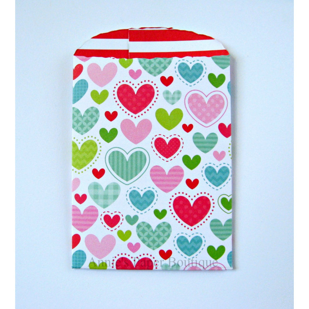 Colorful Hearts Paper Pockets