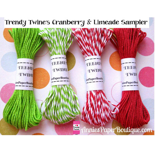 Christmas Cranberry & Limeade Trendy Bakers Twine Sampler
