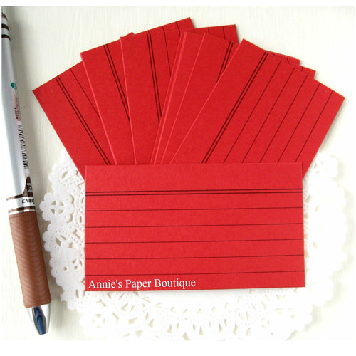 Mini Index Cards - Cranberry