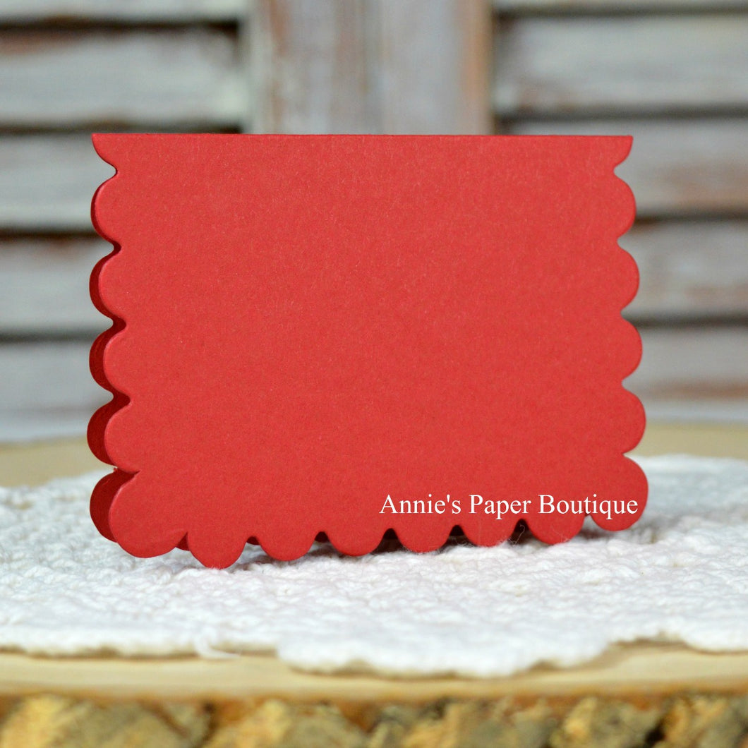 Cranberry Scallop Note Cards