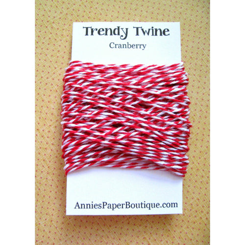 Cranberry Trendy Bakers Twine Mini - Red & White