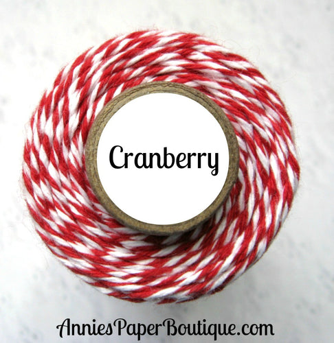 Cranberry Trendy Bakers Twine - Red & White