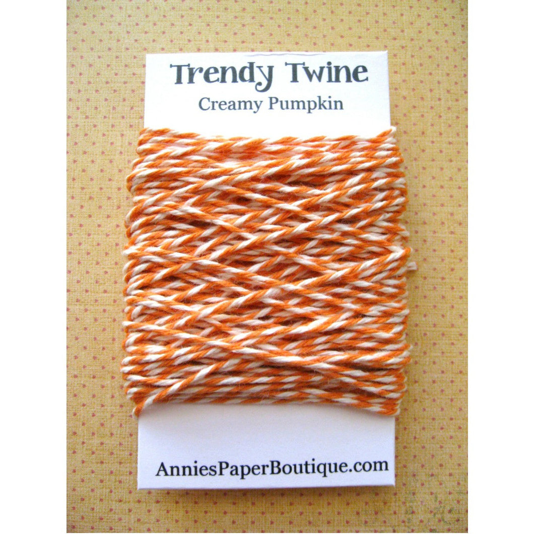 Creamy Pumpkin Trendy Bakers Twine Mini - Pumpkin Orange and Natural