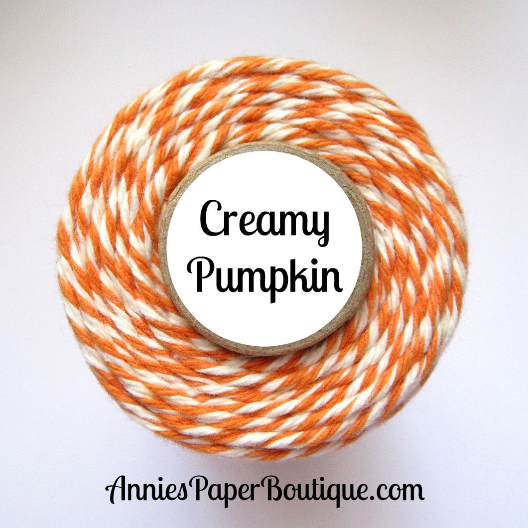 Creamy Pumpkin Trendy Bakers Twine - Pumpkin Orange & Natural