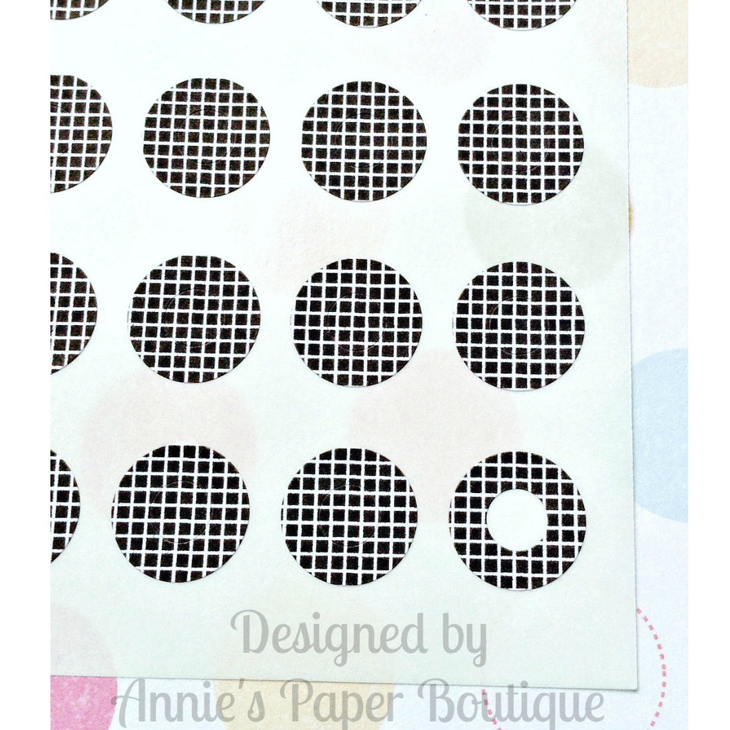 Crisscross Black Trendy Page Dots™