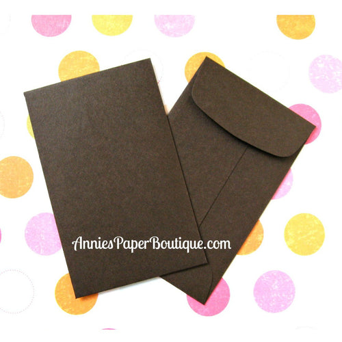 Brown Coin Envelopes, Mini Open end