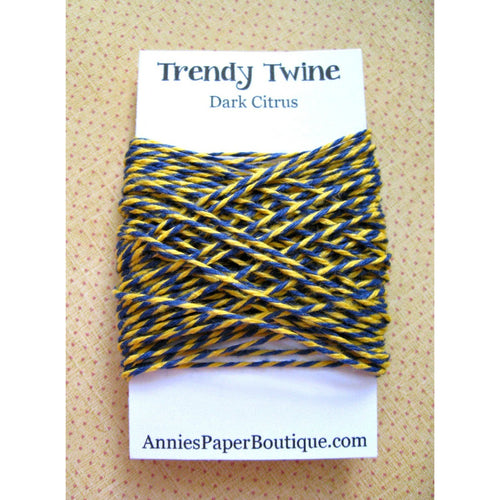Dark Citrus Trendy Bakers Twine Mini - Navy Blue and Yellow