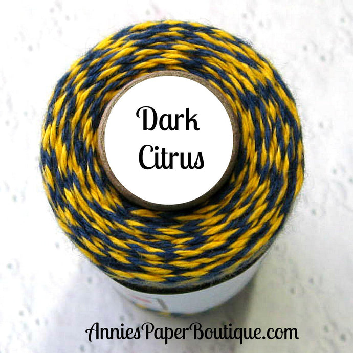 Dark Citrus Trendy Bakers Twine - Navy Blue & Yellow
