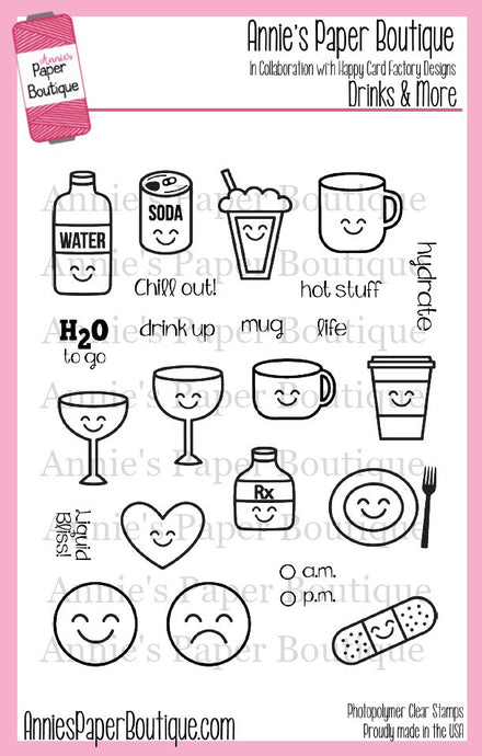 Planner Stamps - Drinks, Coffee, Hydrate, Medicine