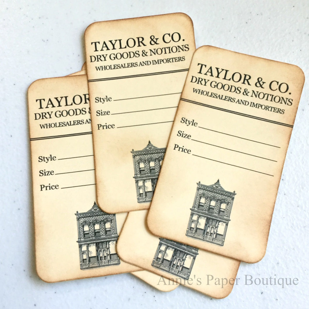 Dry Goods & Notions Vintage Inspired Tags