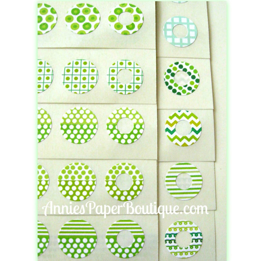 Going Green Trendy Page Dots™ - Hole Reinforcers, Planner Stickers