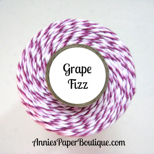 Grape Fizz Trendy Bakers Twine - Purple, Lavender, & White