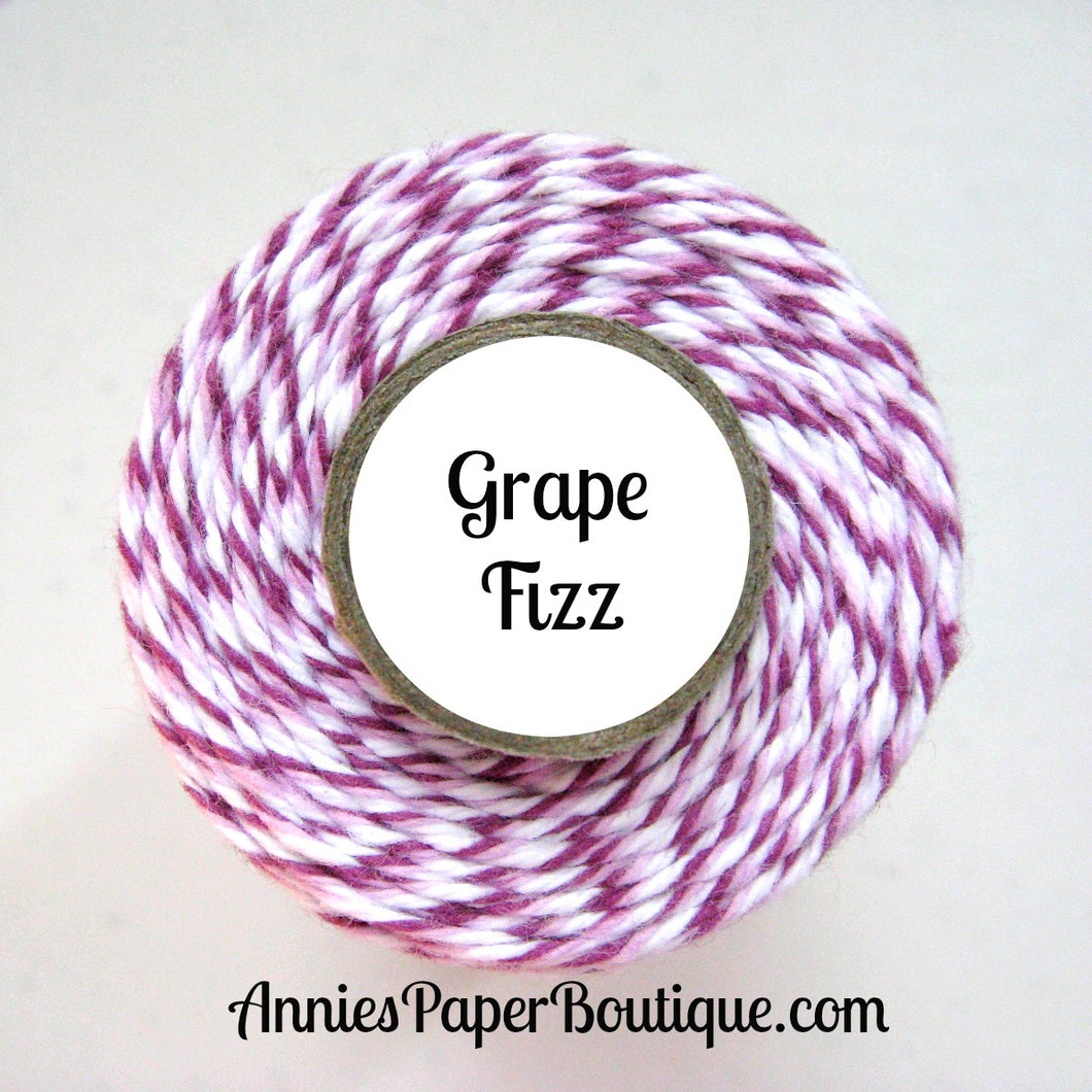 Purple, Lavender, and White Trendy Bakers Twine