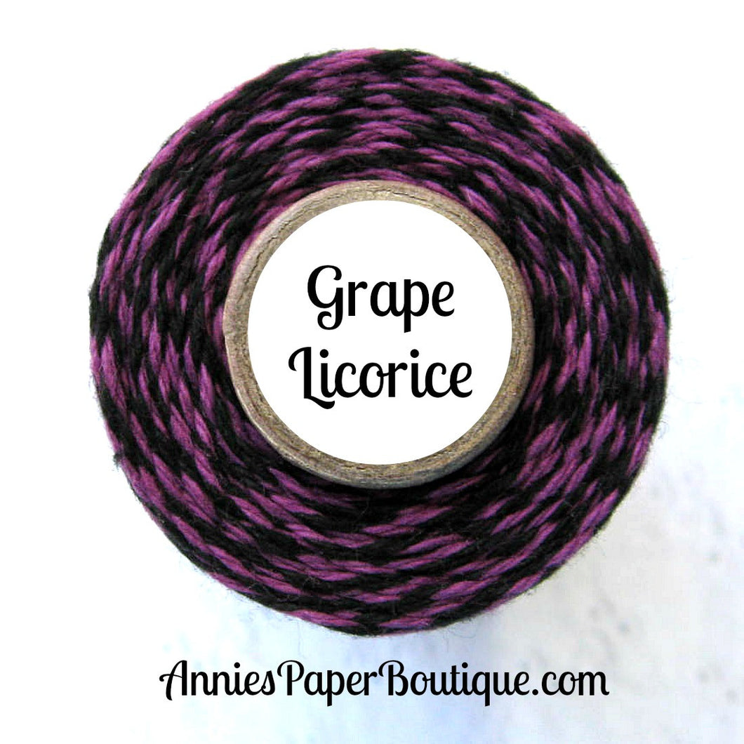 Grape Licorice Trendy Bakers Twine - Purple & Black - Halloween Twine