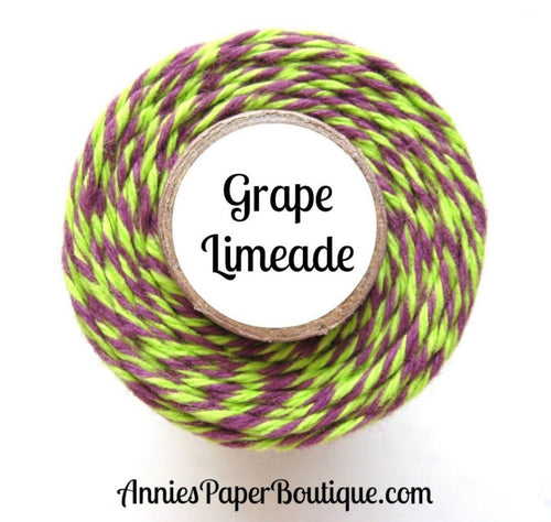 Grape Limeade Trendy Bakers Twine - Lime Green & Purple - Halloween, Mardi Gras