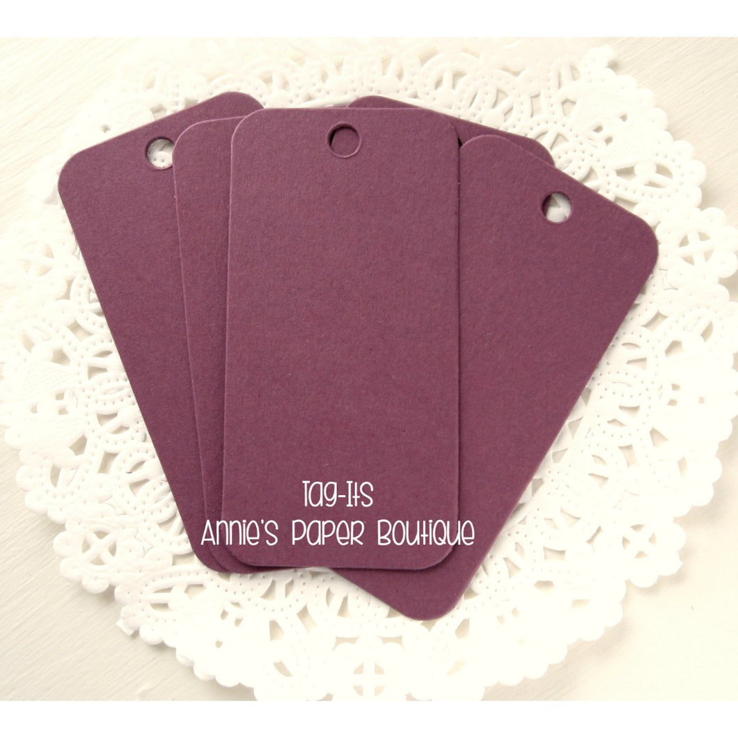 Grape Tag-Its, Purple Cardstock Hang Tags
