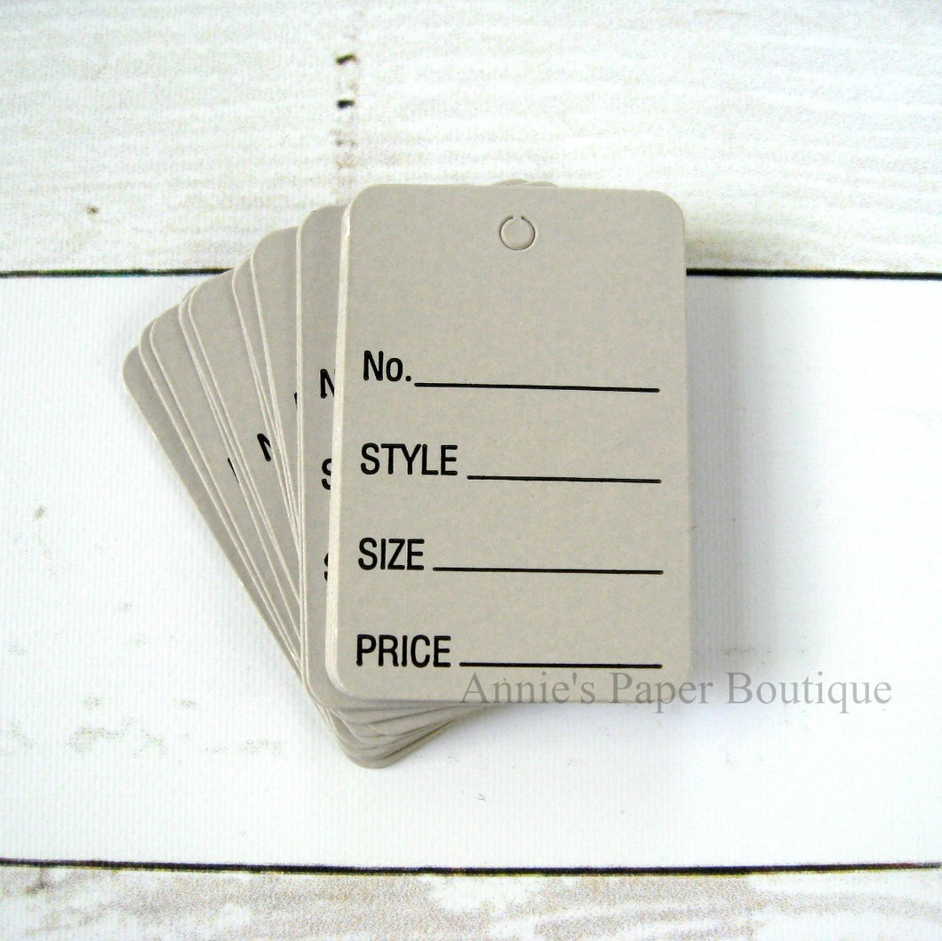 Gray Merchandise Price Tags
