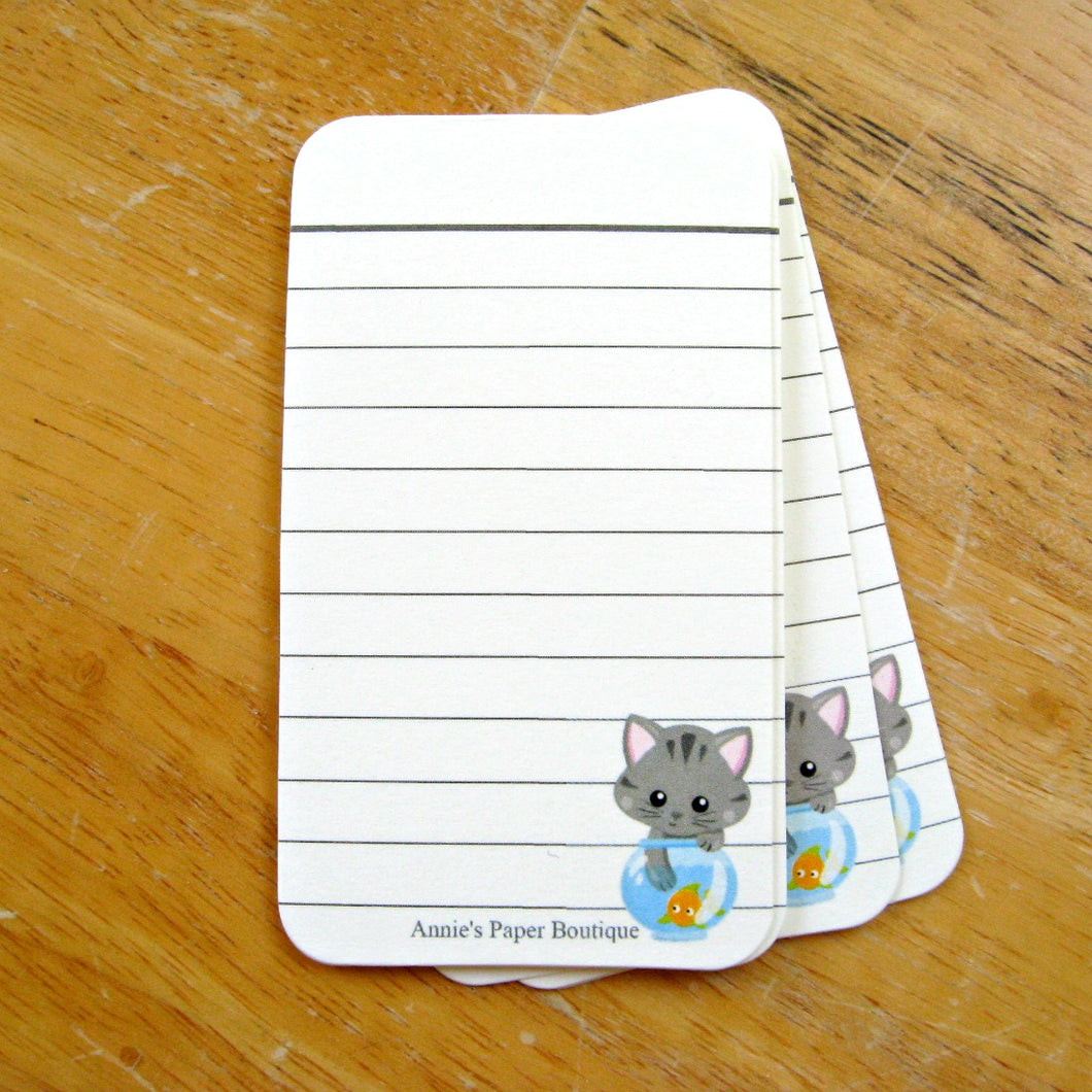 Gray Tabby Journaling Tags