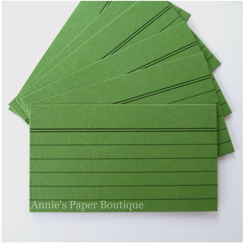 Mini Index Cards - Green