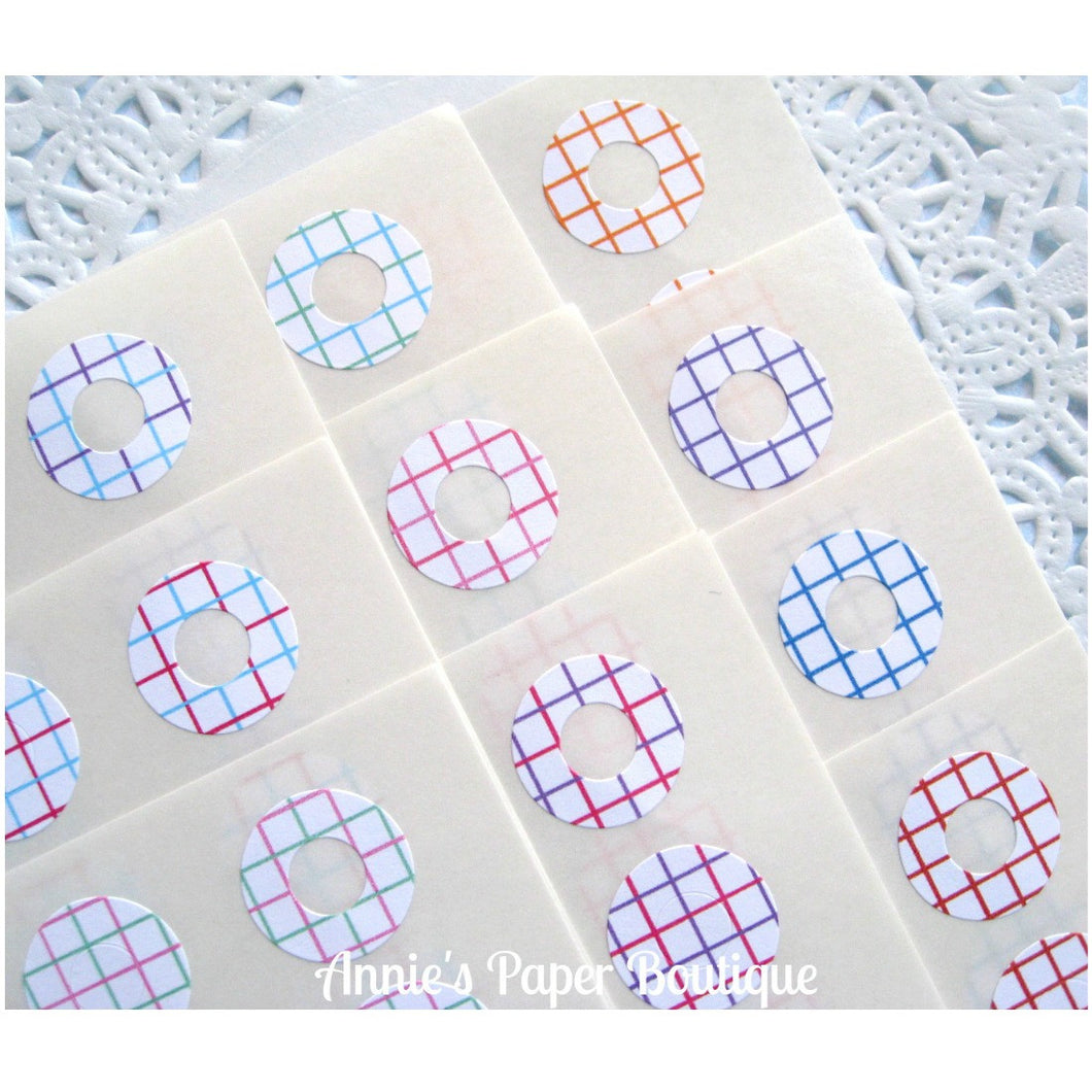 Grid Trendy Page Dots™ - Hole Reinforcers, Planner Stickers