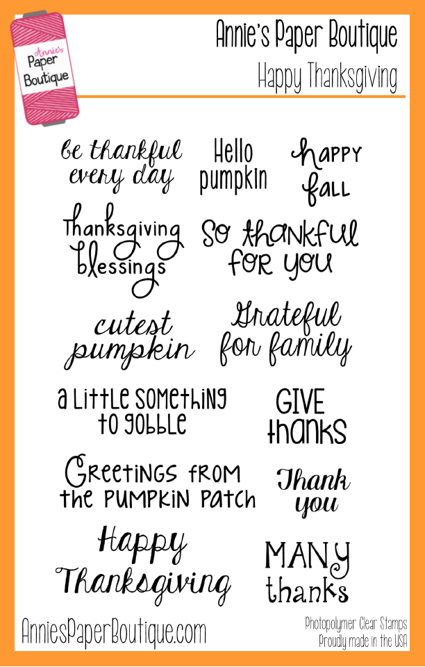 Happy Thanksgiving Stamp Set - 4x6