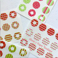 Hello Christmas Trendy Page Dots™ - Hole Reinforcers, Planner Stickers