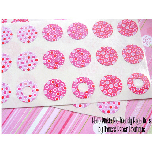 Hello Pinkie Pie Trendy Page Dots™ - Hole Reinforcers, Planner Stickers