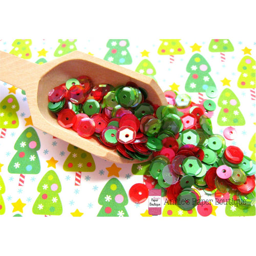 Holly Berry Christmas Sequins