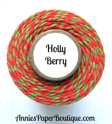 Christmas Red and Green Trendy Bakers Twine