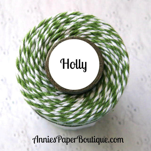 Green and White Trendy Bakers Twine