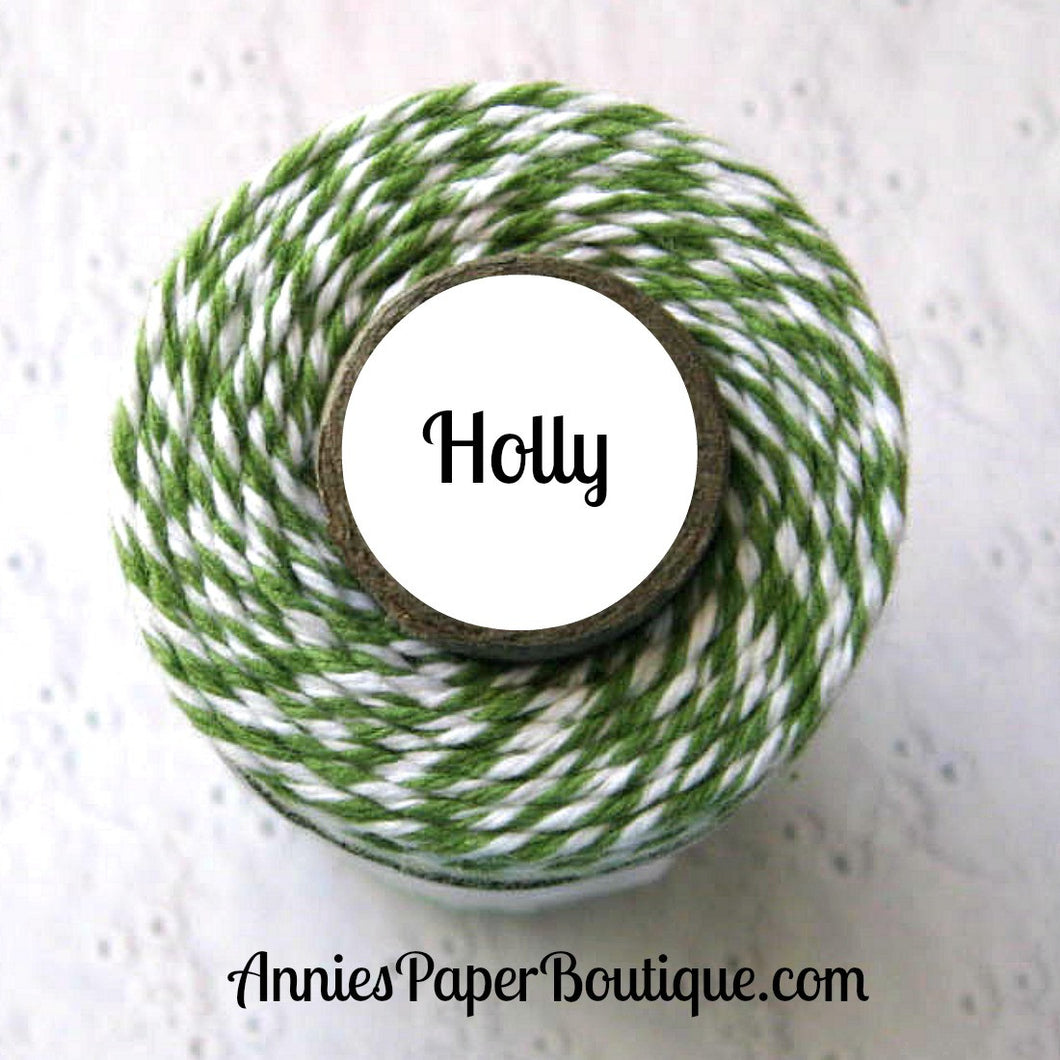 Holly Trendy Bakers Twine - Garden Green & White