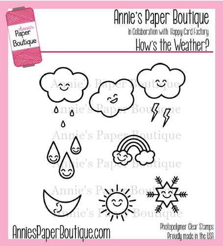 How's the Weather Planner Stamps - 4x4 - Free U.S. Shipping