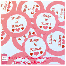 Hugs & Kisses Print & Punch Tags